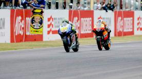 Casey Stoner wrapped up the Gran Premio d'Italia Alice action in style with victory in another wet-dry MotoGP race.