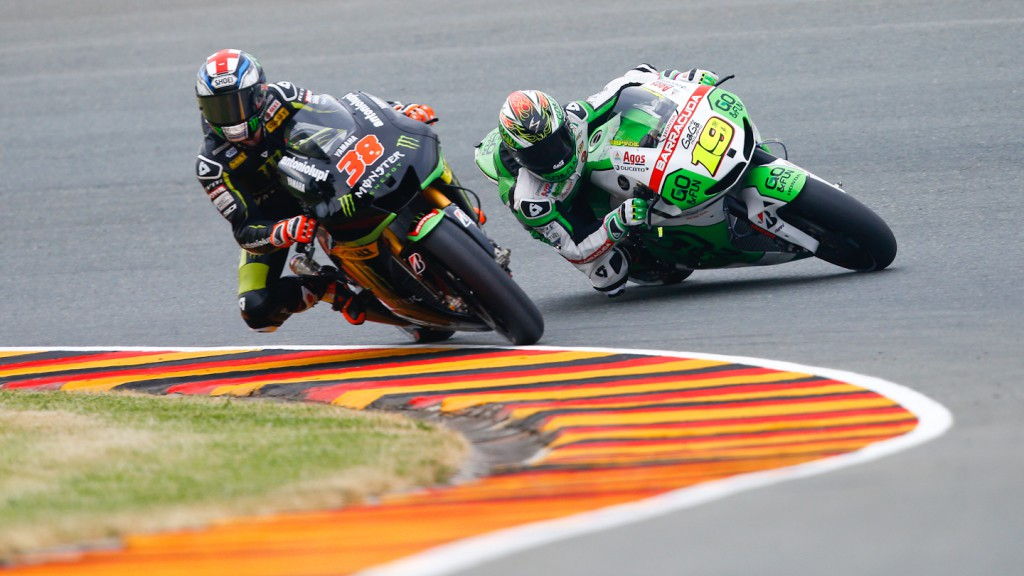 Alvaro Bautista, Bradley Smith, GO&FUN Honda Gresini, Monster Yamaha Tech3, Sachsenring FP2