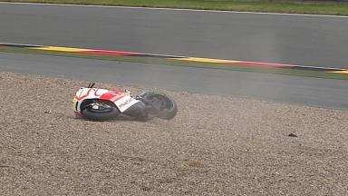 Sachsenring 2013 - MotoGP - FP1 - Action - Andrea Iannone - Crash