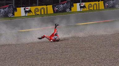 Sachsenring 2013 - Dovizioso's FP1 Crash Playlist