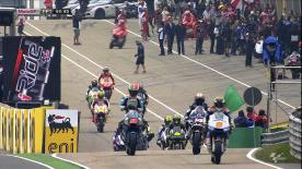 Despite a broken collarbone, Jorge Lorenzo was quickest in Friday's opening practice for the eni Motorrad Grand Prix Deutschland. The Yamaha Factory Racing rider led championship leader Dani Pedrosa and Assen winner Valentino Rossi as Andrea Dovizioso, Andrea Iannone and Cal Crutchlow all suffered sizeable accidents.
