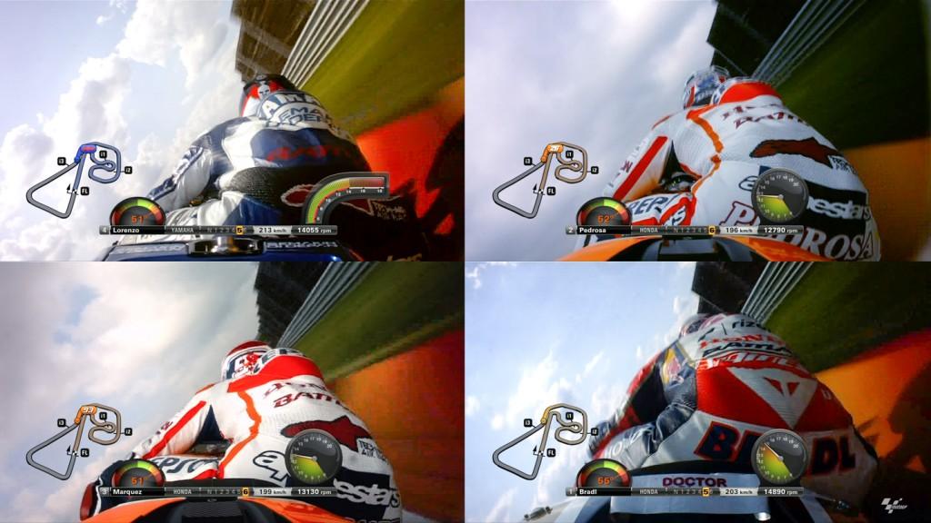 MotoGP FP2 Lean Angle Comparison at Sachsenring's Turn 11