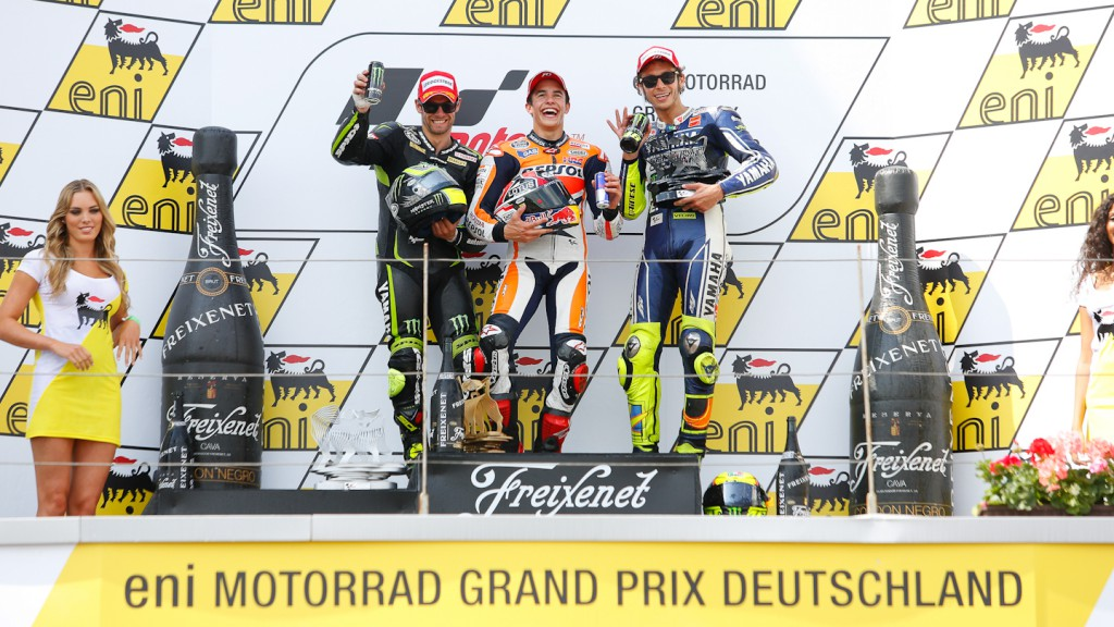 Crutchlow, Marquez, Rossi, Monster YAmaha Tech 3, Repsol Honda Team, Yamaha Factory Racing, Sachsenring RAC