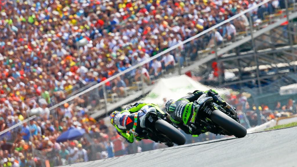 Cal crutchlow, Valentino Rossi, Monster Yamaha TEch 3, Yamaha Factory Racing, Sachsenring RAC