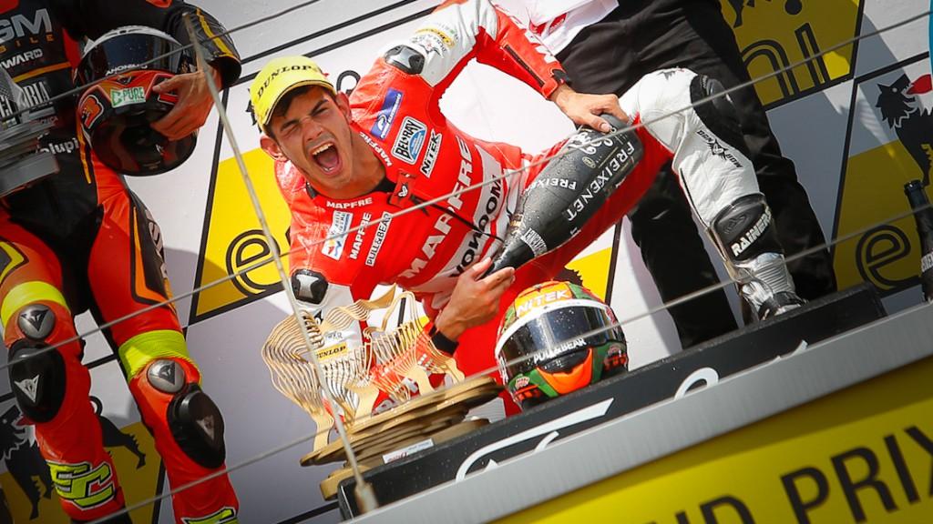 Torres kneeground podium, Sachsenring RAC