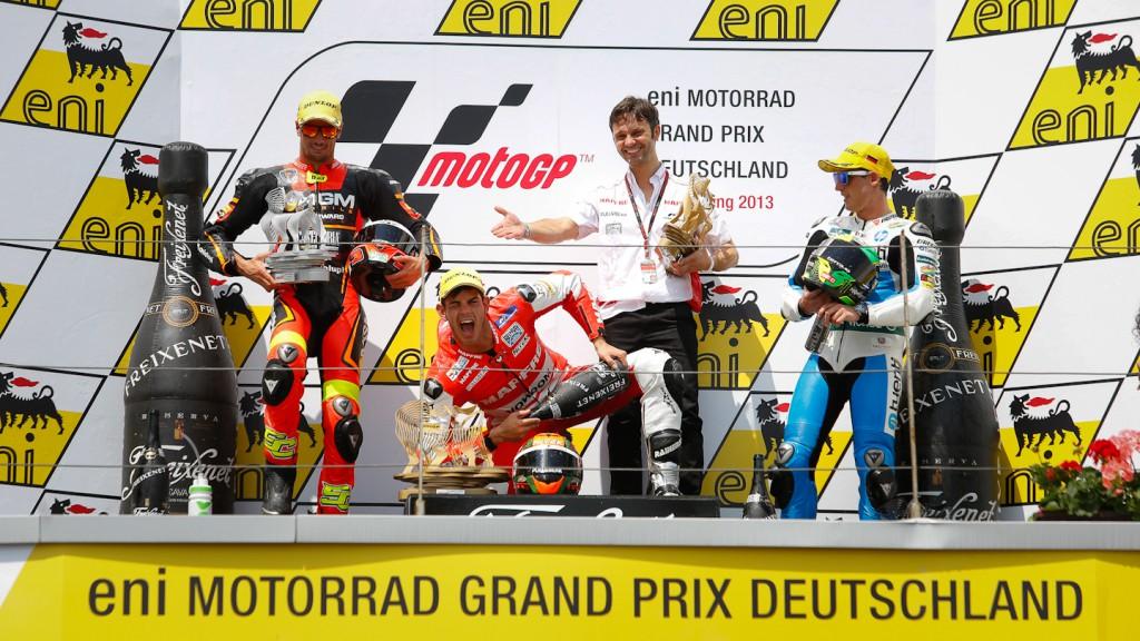 Corsi, Torres, Espargaro, NGM Mobile Racing, Mapfre Aspar Team Moto2, Tuenti HP 40, Sachsenring RAC