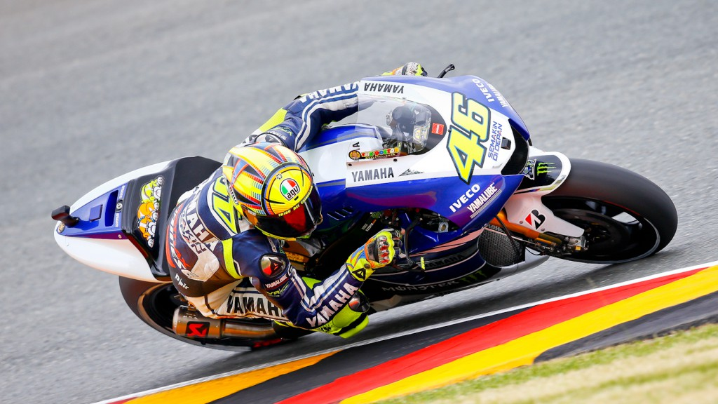 Valentino Rossi, Yamaha Factory Racing, Sachsenring WUP