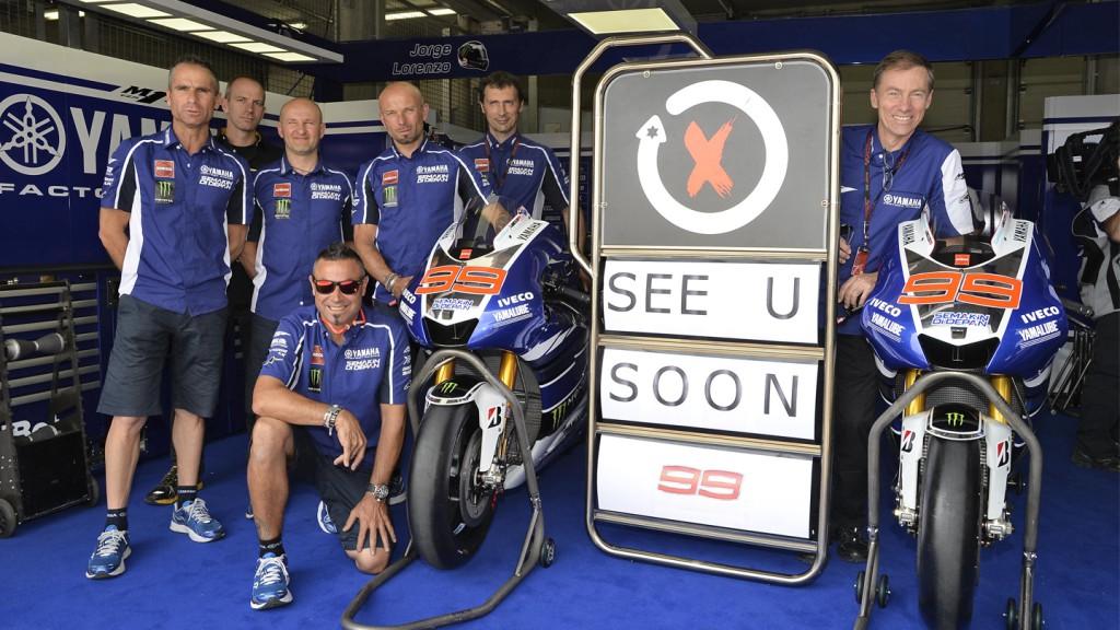 Jorge Lorezo's crew, Yamaha Fatcory Racing, Sachsenring RAC