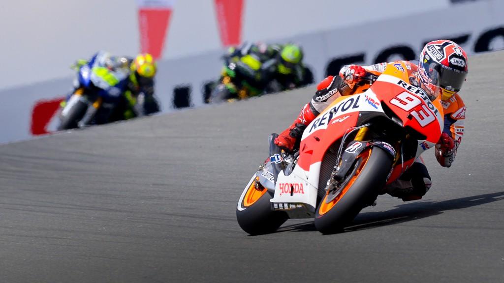Marquez, Rossi, Crutchlow, Repsol Honda Team, Yamaha Factory Racing, Monster Yamaha Tech 3, Sachsenring RAC