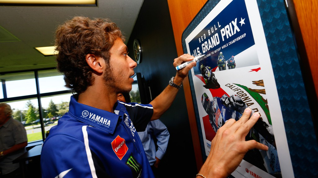 Valentino Rossi, Yamaha Factory Racing - Yamaha US Headquarters