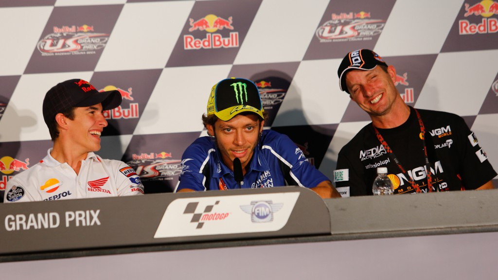 Marquez, Rossi, Edwards, Red Bull U.S. Grand Prix Press Conference