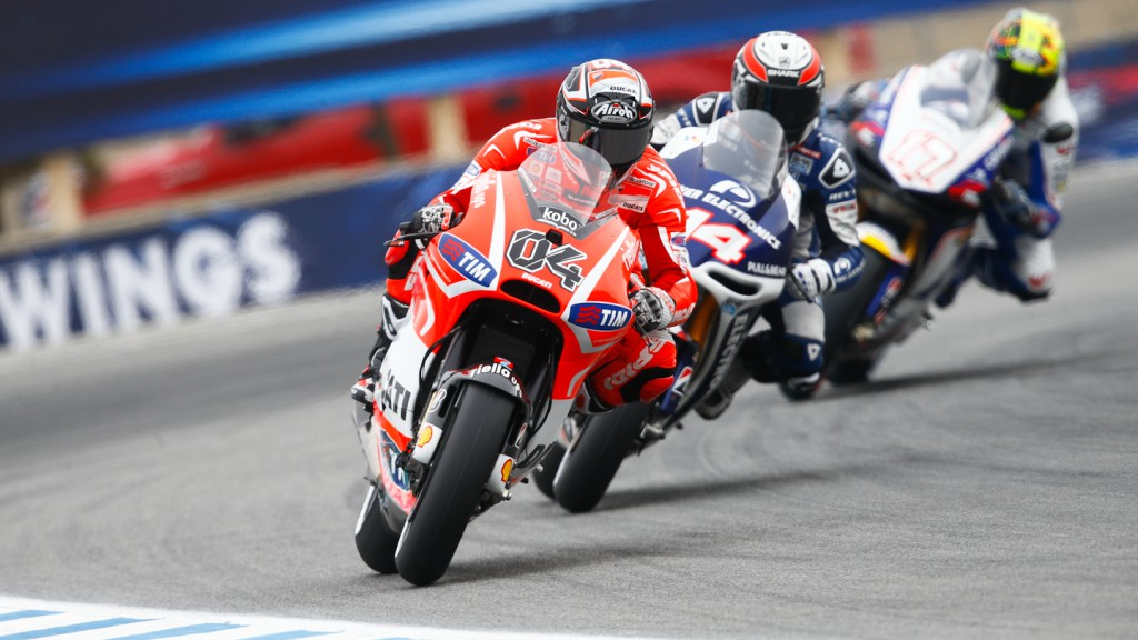 Andrea Dovizioso, Ducati Team, Laguna Seca FP1