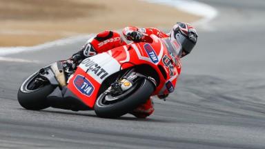 Andrea Dovizioso, Ducati Team, Laguna Seca FP2