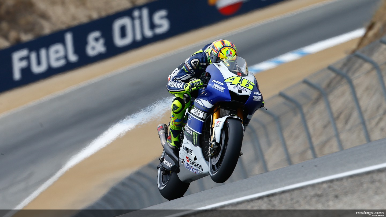 motogp.com · Valentino Rossi, Yamaha Factory Racing, Laguna Seca FP1