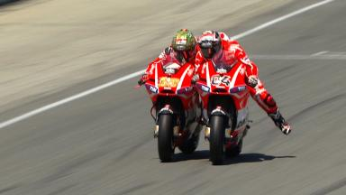 Laguna Seca 2013 - MotoGP - RACE - Action - Andrea Dovizioso and Nicky Hayden