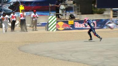 Laguna Seca 2013 - MotoGP - RACE - Action - Aleix Espargaro - Crash