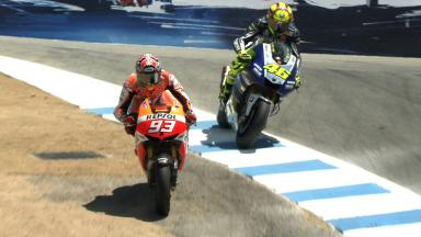 Marquez VS Rossi at the Corkscrew