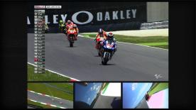 Jorge Lorenzo has won the Gran Premio d'Italia TIM for the third successive year, leading home MotoGP™ championship leader Dani Pedrosa and Britain's Cal Crutchlow. There were crashes for both local hero Valentino Rossi and Marc Marquez, ending the Spanish rookie's run of consecutive podium finishes.