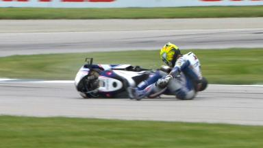 Indianapolis 2013 - MotoGP - FP1 - Action - Karel Abraham - Crash