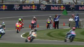 Maverick Viñales has set the pace at the end of the Moto3™ summer break, topping Friday's second practice for the Red Bull Indianapolis Grand Prix. The Team Calvo rider led the way from San Carlo Team Italia's Romano Fenati and Estrella Galicia 0,0's Alex Marquez.