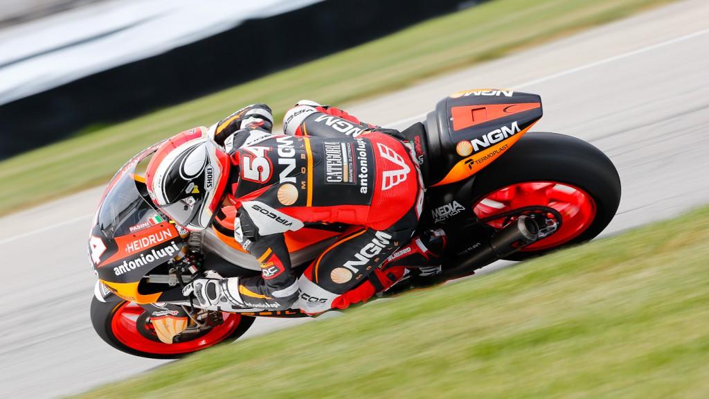Mattia Pasini, NGM Mobile Racing, Indianapolis QP