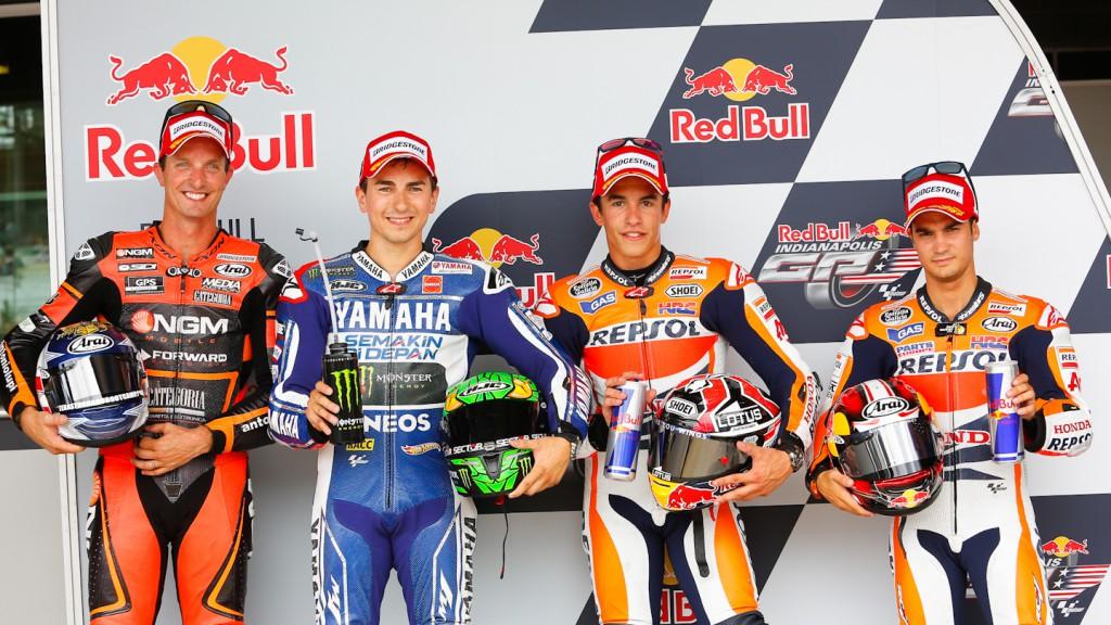 Edwards, Lorenzo, Marquez, Pedrosa, Indianapolis Q2