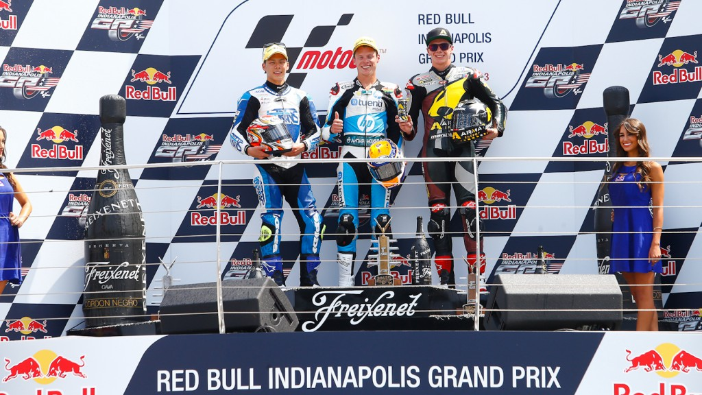 Nakagami, Rabat, Redding, Italtrans Racing Team, Tuenti HP 40, Marc VDS Racing Team, Indianapolis RAC
