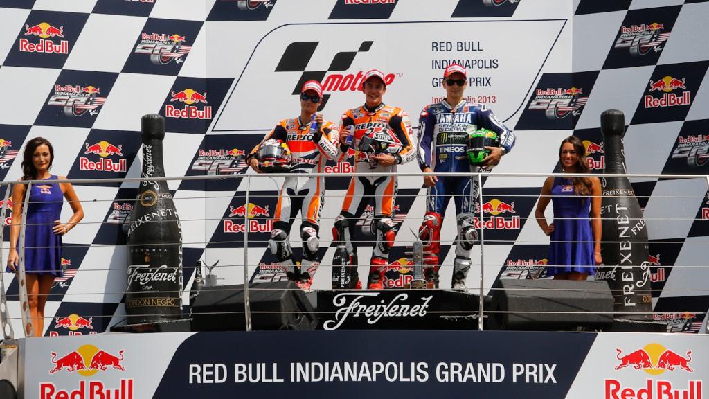 Pedrosa, Marquez, Lorenzo, Repsol Honda Team, Yamaha Factory Racing, Indianapolis RAC