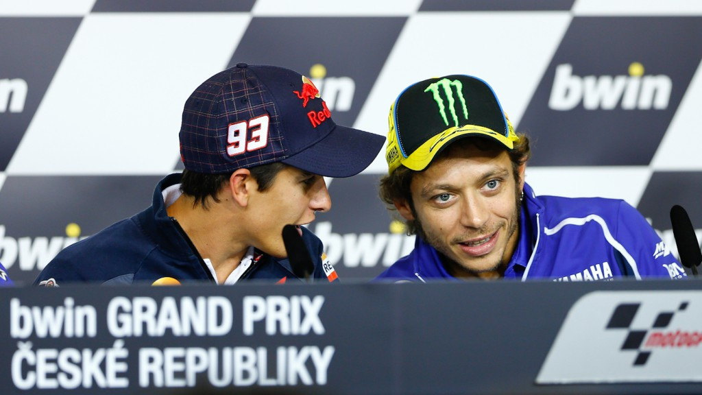 Marquez, Rossi, Repsol Honda Team, Yamaha Factory Racing, Brno Press Conference