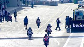 Das erste Freie Training der Moto3™-Klasse für den bwin Grand Prix der Tschechischen Republik endete mit Maverick Viñales (Team Calvo)an der Spitze und Luis Salom (Red Bull KTM Ajo)auf Platz zwei. Alex Rins (Estella Galicia 0,0)wurde von seinen beiden Rivalen in letzter Sekunde von Position eins auf den dritten Platz verdrängt.