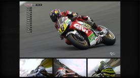 Cal Crutchlow has stormed to his second MotoGP™ pole position for the bwin Grand Prix České republiky. The Monster Yamaha Tech3 rider will start alongside GO&FUN Honda Gresini's Alvaro Bautista and Repsol Honda Team's Marc Marquez, while Dani Pedrosa and Jorge Lorenzo round out the top five.