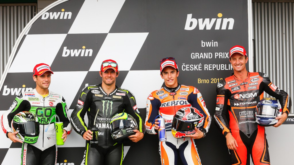 Bautista, Crutchlow, Marquez, Edwards, Brno Q2
