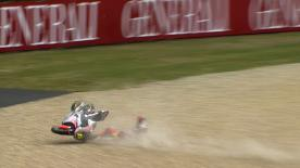 Brno 2013 - Moto2 - RACE - Action - Sandro Cortese - Crash