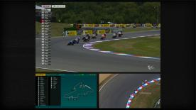 Moto3™ championship leader Luis Salom has returned to winning ways, picking up his fifth victory of 2013 in Sunday's bwin Grand Prix České republiky. Having grabbed the lead on the final lap, the Red Bull KTM Ajo rider was able to open up a small cushion as four rivals squabbled over second place behind him.