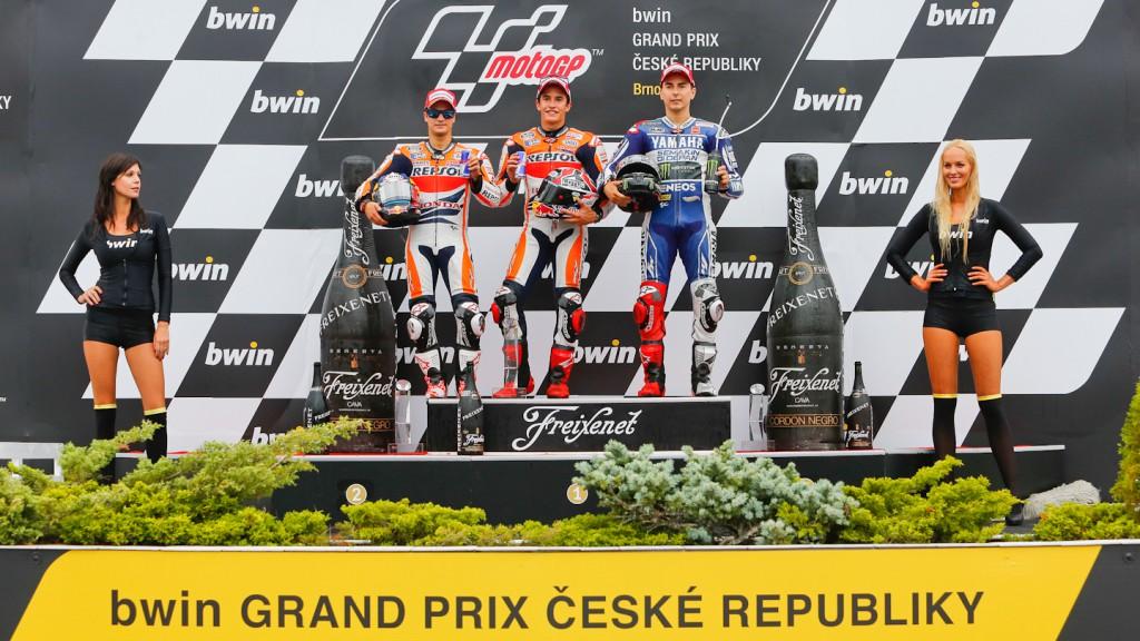 Pedrosa, Marquez, Lorenzo, Repsol Honda Team, Yamaha Factory Racing, Brno RAC
