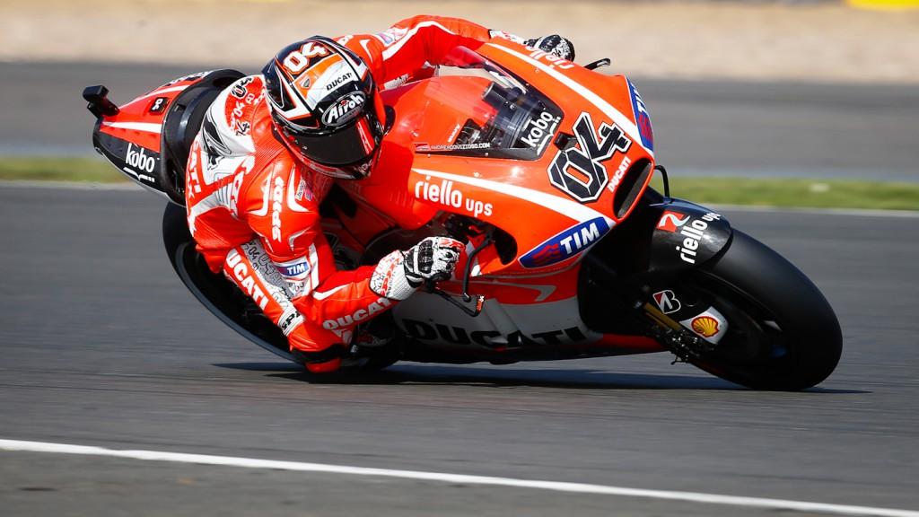Andrea Dovizioso, Ducati Team, Silverstone FP2