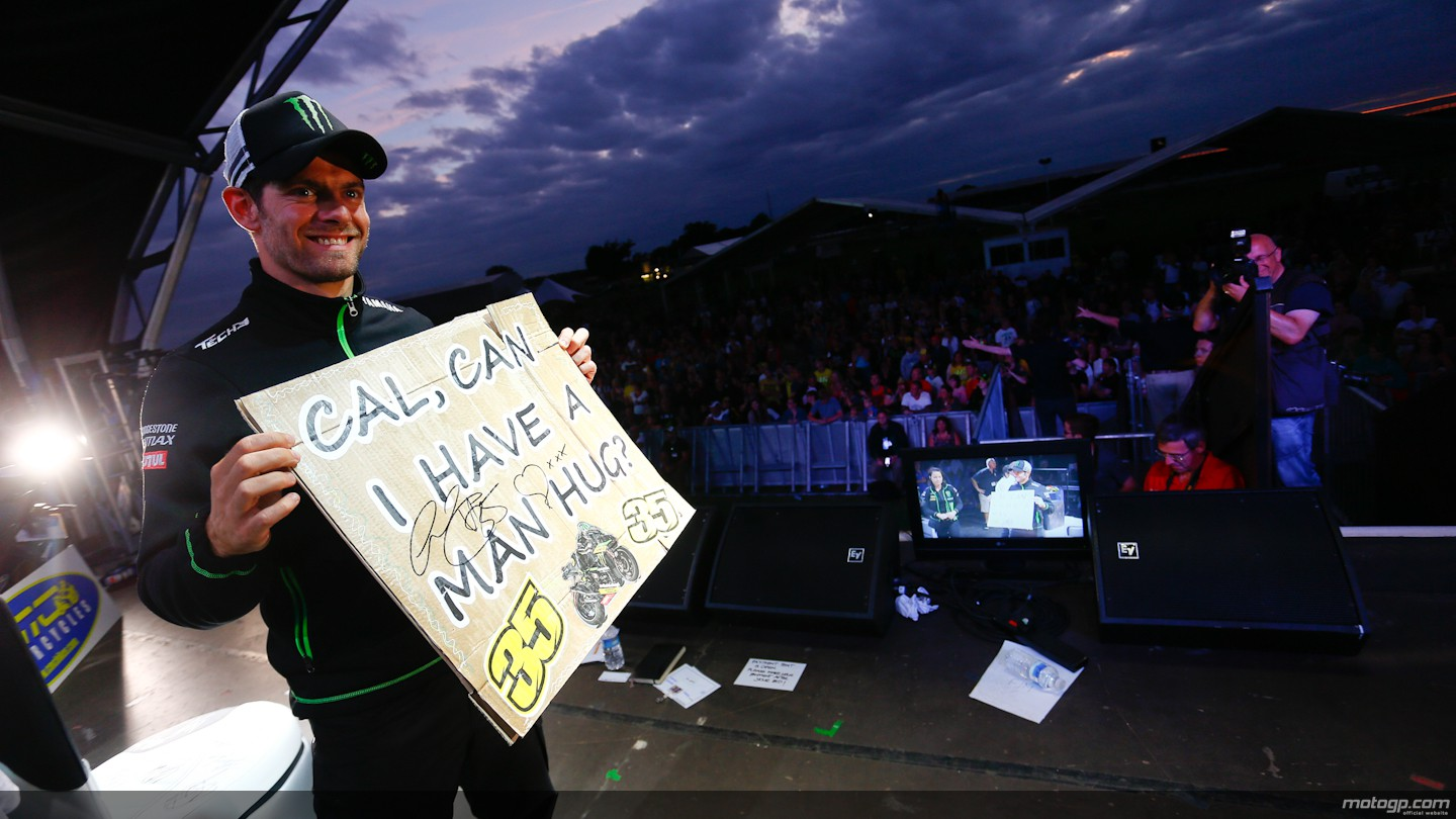 motogp.com · Cal Crutchlow, Day of Champions, Riders For Health, Silverstone