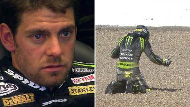 A dramatic start to Saturday for Crutchlow