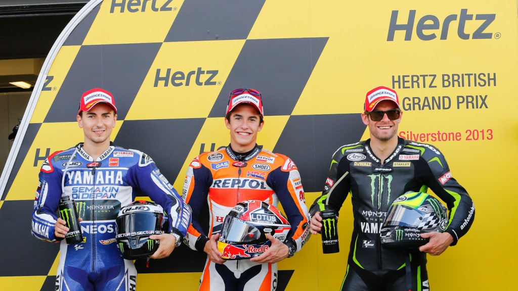 Lorenzo, Marquez, Crutchlow, Yamaha Factory Racing, Repsol Honda Team, Monster Yamaha Tech 3, Silverstone Q2