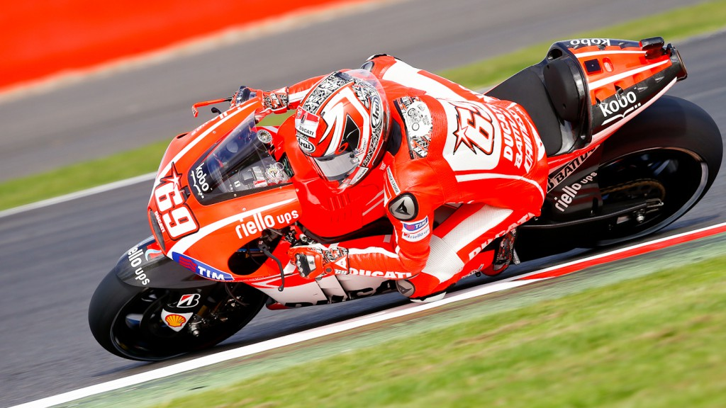 Nicky Hayden, Ducati Team, Silverstone Q2