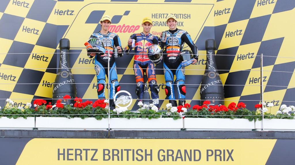 Rins, Salom, Marquez, Estrella Galicia 0,0, Red Bull KTM Ajo, Silverstone RAC