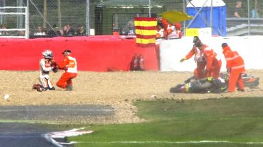 Exclusive Clip: Marquez & Crutchlow Crash at Vale