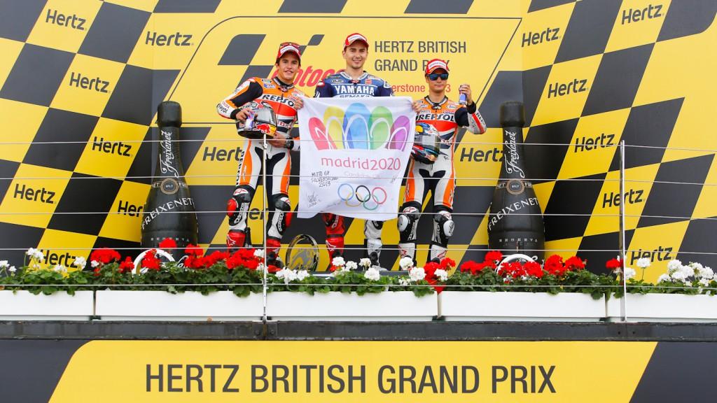 Pedrosa, Lorenzo, Marquez, Repsol Honda Team, Yamaha Factory Racing, Silverstone RAC
