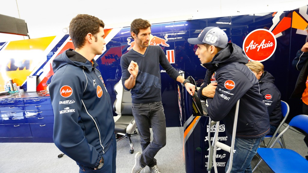 Mark Webber, Red Bull F1 driver, Luis Salom, Silverstone