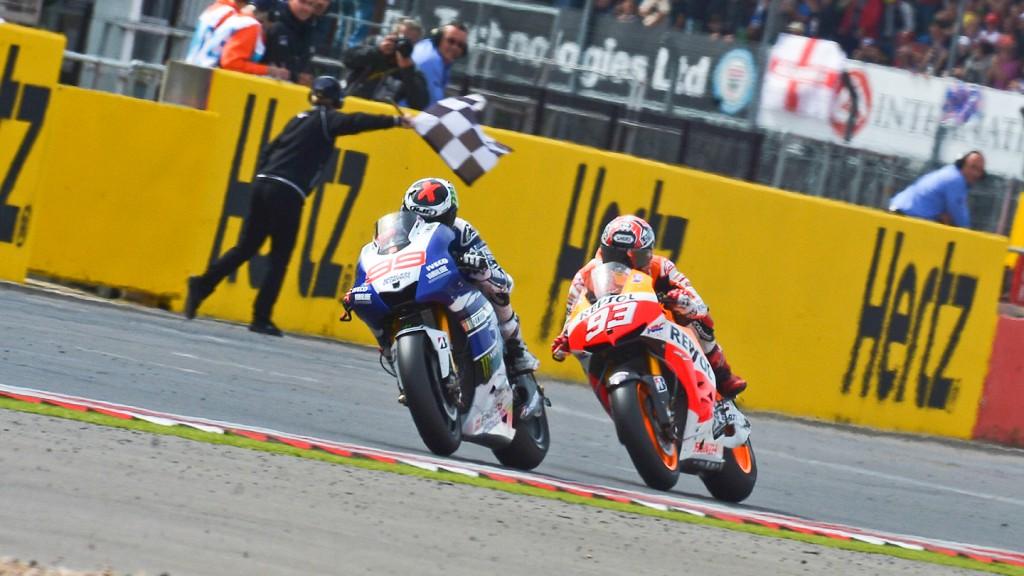 Jorge Lorenzo, Marc Marquez, Yamaha Factory Racing, Repsol Honda Team, Silverstone RAC