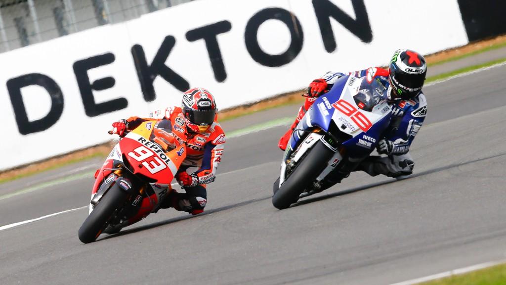 Marc Marquez, Jorge Lorenzo, Repsol Honda Team, Yamaha Factory Racing, Silverstone RAC