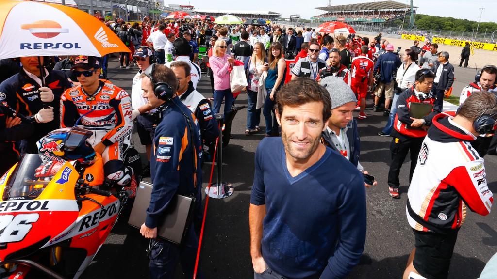 Mark Webber, Red Bull F1 driver,  Silverstone MotoGP RAC