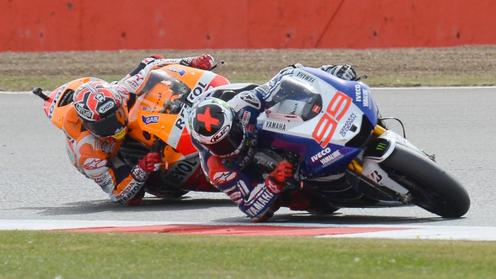 Jorge Lorenzo, Marc Marquez, Yamaha Factory Racing, Repsol Honda Team, Silverstone RAC © Gigi Soldano / Milagro