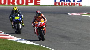 Marquez-Rossi mind games in practice…