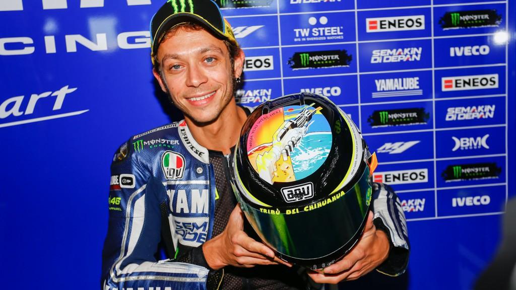 Valentino Rossi Misano 2013 Helmet: a tribute to Marco Simoncelli